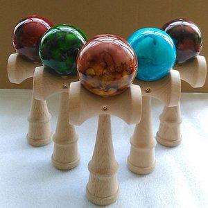 Профессиональные шары мраморный цвет умелый жонглирование деревянные шарики игрушки игрушки для детей ребенка