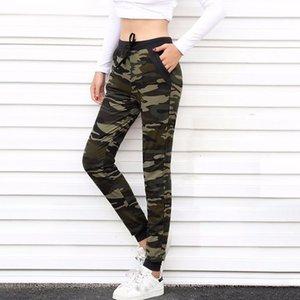 Aosheng 2020 NUEVO Camuflaje Joggers Mujeres Sweetpants Harem Camo Drawstring Pantalone Mujer suelta Pantalones Hemaros Casuales