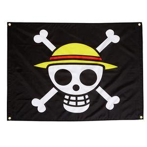 Costume um pedaço chapéu de palha pirata bandeiras bandeiras 3x5ft 100d poliéster de alta qualidade com gêneros de latão