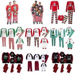 Christmas Family Pajamas Sets Dad Mom Kids Baby Family Matching Christmas Sleepwear Christmas Night Pajamas Party Wear GWA1839