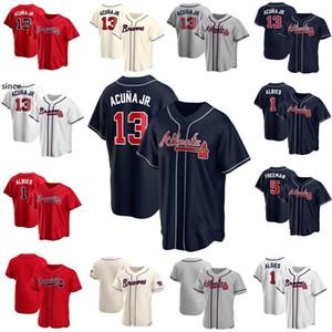 13 Ronald Acuna Jr. Jersey Ozzie Albies Atlanta Custom Custom Baves Baseball Jerseys Freddie Freeman Dale Murphy Dansby Swanson Ender Inner Infiarte