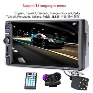 "7018B 2 Din Car Radio Bluetooth 7 ""Сенсорный экран Стерео FM Audio Stereo MP5 Player SD USB-камера 12V HD1"