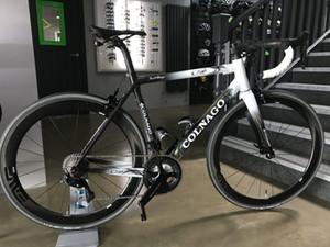 nero bianco Colnago opaco nero di carbonio strada completa bici nera COLNAGO manubrio originale 105 R7000 GRUPPO