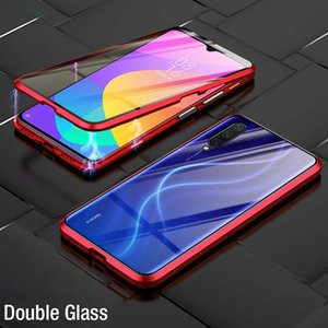 Vidrio templado de doble cara de absorción magnética de lujo para Xiaomi MI 9 MI9 SE METAL TELÉFONO Funda trasera Xiaomi9 MI9SE H WMTOLH