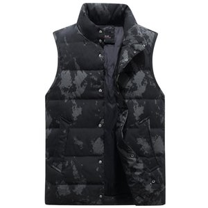 7 Color Large Size Winter Down Vest Men Body Warmer Thickened Autumn Sleeveless Jackets Male Casual Work Waistcoat Plus Size 4XL