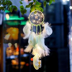 Dream Catcher Handmade Dreamcatcher Feather Wall Handmade Braided Wind Chimes Art For Wall Hanging Car Home Decoration Gifts