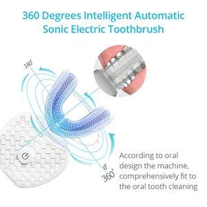 360 درجة سونيك فرشاة الأسنان الكهربائية الجديدة ترقية الجيل أزرق فاتح ذكي الذاكرة فرشاة الأسنان حثي شحن U نوع 201118