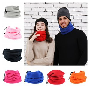 Outdoor Face Mask Women Men Multifunction Sports Cycling Scarf Color Polar Fleece Warm Autumn Winter Hat Three In One Adjustable Hats F10901