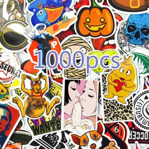 1000 PCS Mix Stil Çıkartma Buzdolabı Kaykay Oyuncak JDM Doodle Çıkartmaları Ev Dekorasyonu Bagaj Araba Şekillendirme Bisiklet Laptop DIY Çıkartma LJ201019 Soğuk