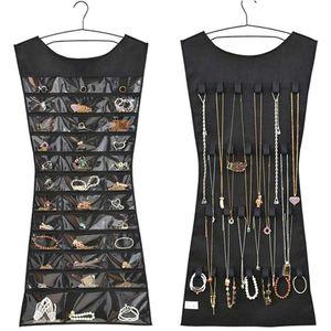 1PC 30 Pocket Large Jewelry Holder Necklace Bracelet Earrings Ring Storage Bag Organizer Jewelry Display Jewellery Organizer