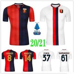 20 21 Genoa Soccer Jerseys Gumus Kouame Schone T.Sanabria Romero Pinamonti Kouame Pandev Radovanovic Custom Custom Genova Cricket Chemises de football