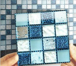 Telha de mosaico criativo adesivo de parede 3d WC à prova d 'água auto adesivo papel de parede cozinha à prova de óleo adesivo
