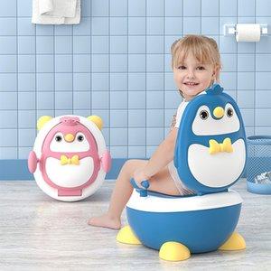 Lovely Baby Boy Children's Pot Cute Penguin Ajustable Height Baby Potty Training Seat Portable Toilet for Babies Girls Infantil LJ201110