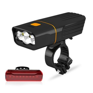 새로운 자전거 램프 USB 충전 꼬리 산악 자전거 경고 3T6 전면 빛 1000 루멘 201029