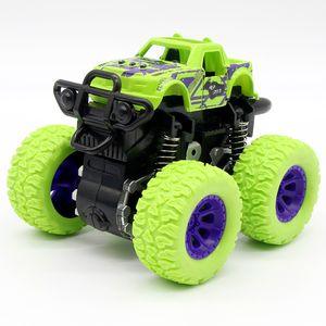 Green children's car toy monster truck inertia SUV friction power baby boy super car explosion truck children's gift toys