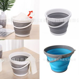 Fold Household Bucket Thickening Wash Mops Portable Outdoors Buckets Save Space Universal Hot Selling With Various Color 12ss J1