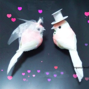 12PCS,Decorative Pink Love Bird Artificial Foam Feather Mini Birds With Clip,DIY Craft For Christmas Ornament,Wedding Decoration