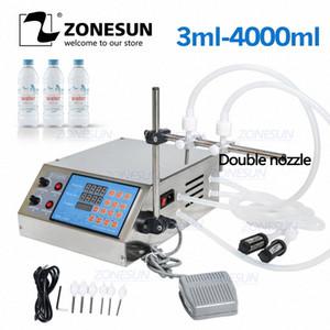ZONESUN flüssige Füllmaschine Elektrische Digital Control Pump Parfüm Wasser-Saft-Ätherisches Öl-Flaschenfüller mit 2 Köpfen ilda #