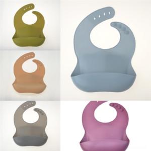 IUVRV Scott Ekose Bebek Önlükler Silikon İşlevli Bebek Tek Kullanımlık Bandana Klasik Sling Bibs Döngüsü Su Geçirmez