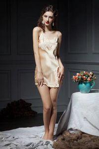 2017 womens sexy 100% silk Pajama Lingerie Sleepwear Bath Gown pjs Nightgown 3pcs lot #4028