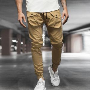 Homme respirant habillement pantalon décontracté fitness jogger botteaux harajuku poches pancartes pantalons adolescents pantalons en vrac