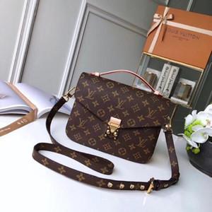 2020 Damen Quadrat Druck Beutel Leder-Doppelt-Reißverschluss Kosmetiktasche Handtaschen-Frauen-Mappen-Michael-Schulter-Beutel-Geldbeutel Clutch
