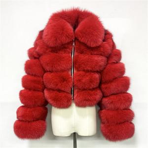 Faux Kürk Kış Moda Kapüşonlu Faux Fox Mont Ceket Palto Katı Giyim Sonbahar Kış Kalın Sıcak Tutun Womens Tops KLW5318