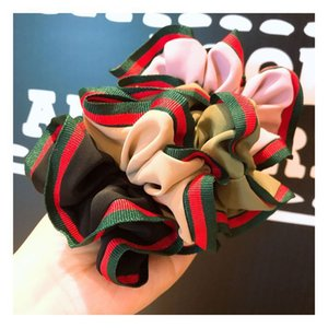 Fashion Korean hairband temperament school style green red stripe solid color versatile double-layer HAIR BAND HEADBAND accessories HJ