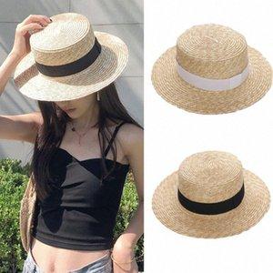 Summer Fashion Women Wide Brim Straw Sun Hat Fashion Lady Wheat Straw Wheat Sunscreen Beach Hats 56 58 Cm Fedora Hat Bowler Hat From , CwYy#