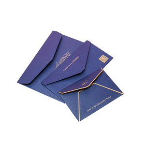 Custom mini package postcard cardboard office file document enclosed kraft pocket envelope