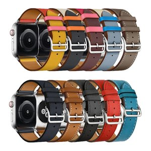 Luxury Genuine Leather Watch Straps Bands For Apple iWatch Series 5 4 3 2 1 Watch Strap