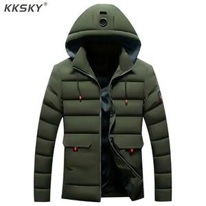 Ceket Jaquetas Outwear Coat Uzun Kollu Homme Palto Kksky Kış Ceket Erkekler Katı Casual Kapşonlu Erkekler Parkas Kalın Sıcak