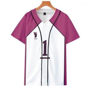 Haikyuu ushijima wakatoshi البيسبول موحدة سترة الأزياء قصيرة الأكمام سترة عارضة البيسبول 1