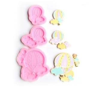 Aouke Hot Air Balloon Fondant Pastel Molde de silicona Galletas de caramelo galletas Decoración de decoración Molde Herramienta de hornear Chocolate1