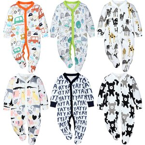 Baby Jumpsuit Autumn New Baby Romper Newborn Baby Long-sleeved Cotton Romper Soft and Comfortable Foot-wrapped Jumpsuit