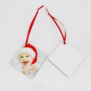 Süblimasyon MDF Boş Süsler Isı Transfer Baskı Noel kolye Kar Çiçek Çember Noel Boş Levha IIA761
