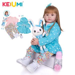 KEIUMI 24 pouces Mode Réincarné Nuisettes corps Tissu perruque de cheveux de bébé nouveau design poupées cadeaux pour enfants et vous Amoureux 1011
