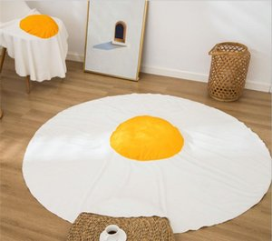 Fried egg pouch egg printed flannel blankets lazy blanket custom blanket Fried egg blanket high quality flannel fabric solid