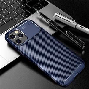 Cas de téléphone cellulaire en fibre de carbone pour iPhone 12 Pro Max 11 Samsung Galaxy A42 Xiaomi MI 10T Lite Slim Slim Mobile Case mobile