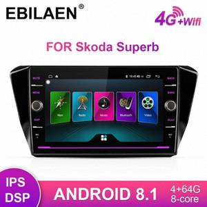EBILAEN Car DVD Rádio Multimedia Player Para Superb 2016 2019 2DIN Android 8.1 Autoradio GPS Navigation IPS câmera traseira OJIf #