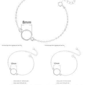925 argento puro supporto vuoto per il supporto del braccialetto semplice womenJapan e Corea intarsiato con cera d'api e Tian braccialetto svuotare ANl9l ANl9
