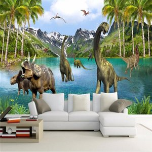 beibehang for walls 3 d Large Murals Jurassic era dinosaurs Photo 3d Wallpaper for living room sofa bed bedroom 3d flooring