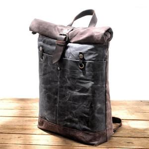 Muchuan New Designer Backpack su tela per uomo Zaini impermeabili impermeabili Grande capacità di viaggio Daypacks Vintage Mochilas1