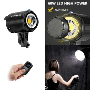 LED Continuous Video Light,Tolifo 60W Bowens Mount Aluminum Alloy Studio Lamp with LCD Display Remote control for Photography