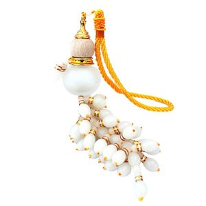 Car Gourd Pendant Wooden Glass Car Perfume Bottle Beaded Interior Decoration Decoration Peach Wood Splicing Hanging