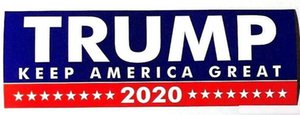 10pcs set 5 styles Donald Trump 2020 Car Stickers Bumper Sticker Keep Make America Great Decal for Car Styling Vehicle paster