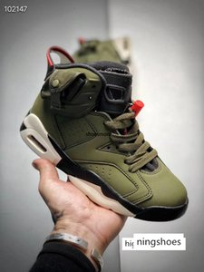 Kids Scotts x 6 boys Basketball Shoes cactus jack 6s Travis low Army Green Tinker scarpe des Chaussures zapatos