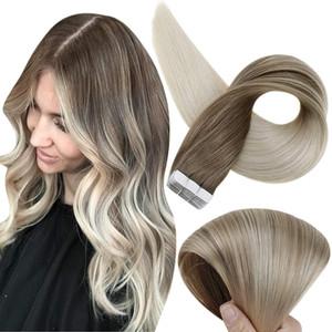 الشريط fshine balayage في ملحقات الشعر 12 بوصة شريط الشعر البشري في ملحقات بو الشريط في ملحقات الشعر اللون 8 الرماد يتلاشى بني إلى 60