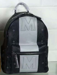 Moda clásica Korean M Punk Mochila empalmada Mochila para niños y niñas Mochila de viaje 5809