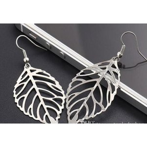 Europe And America Trade Fashion Exquisite Simplicity The Forest Metal Leaves Earrings Hot Selling Metal Leaf Earri sqcMbw queen66